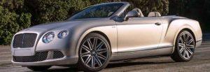 Bentley Continental GT Speed Convertible Rental Miami