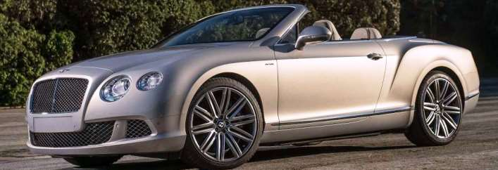 Bentley Continental GT Speed Convertible Rental Miami